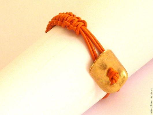 Для украшений ручной работы. Ярмарка Мастеров - ручная работа. Купить Пуговица-застежка для браслетов/спейсер. Handmade. Золотой, замок браслет