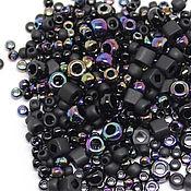 Бисер ручной работы. Ярмарка Мастеров - ручная работа Бисер Микс TOHO №3210 черный Японский бисер TOHO Beads 10гр. Handmade.