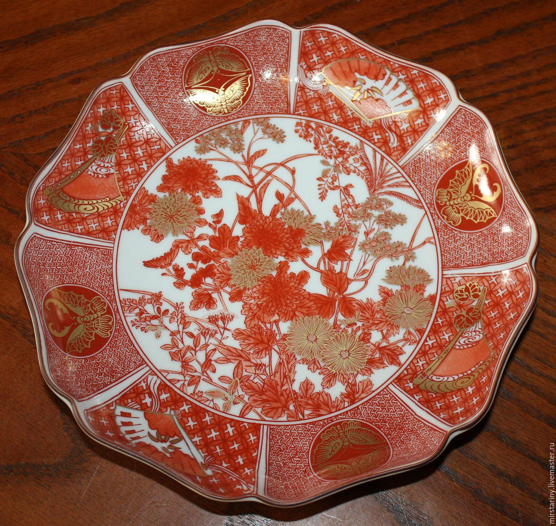 Beautiful, porcelain, vintage plate, Japan, Vintage plates, Moscow,  Фото №1