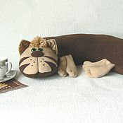 Куклы и игрушки ручной работы. Ярмарка Мастеров - ручная работа Кот Капучино. Handmade.