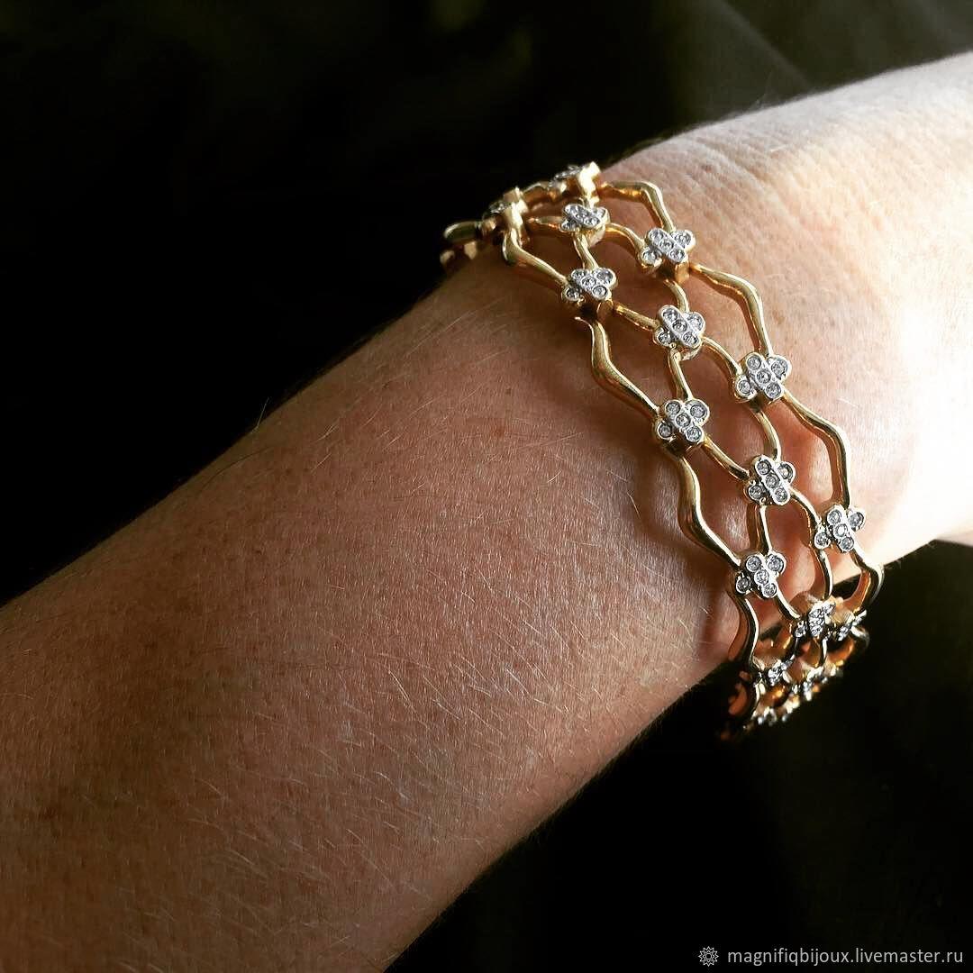 2b19cddc0 Vintage Jewelry. Livemaster - handmade. Buy Original 60's bracelet from  SWAROVSKI.