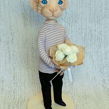 Куклы и игрушки ручной работы. Ярмарка Мастеров - ручная работа Кот Марсель, породы канадский сфинкс.. Handmade.