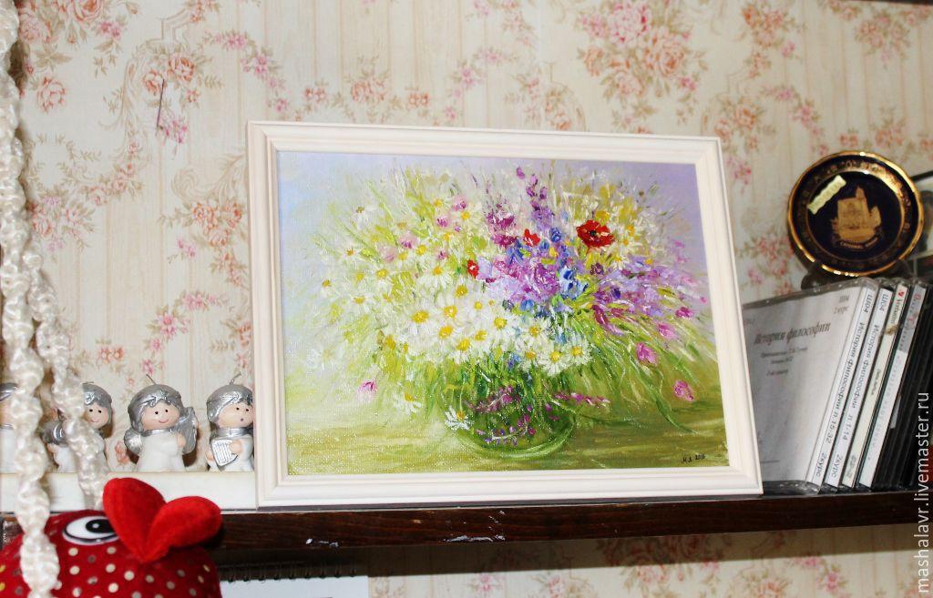 Картины цветов ручной работы. Ярмарка Мастеров - ручная работа. Купить Букет для настроения. Handmade. Весна, комбинированный