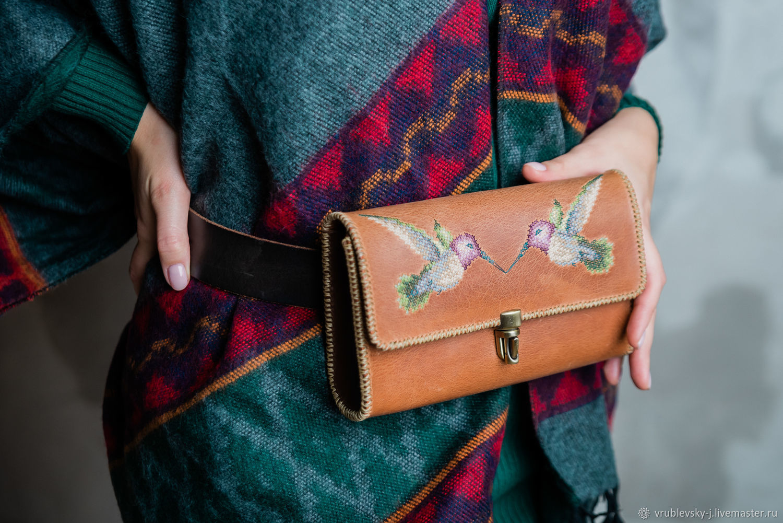 Waist bag with hand embroidery KOLIBRI, Waist Bag, Moscow,  Фото №1