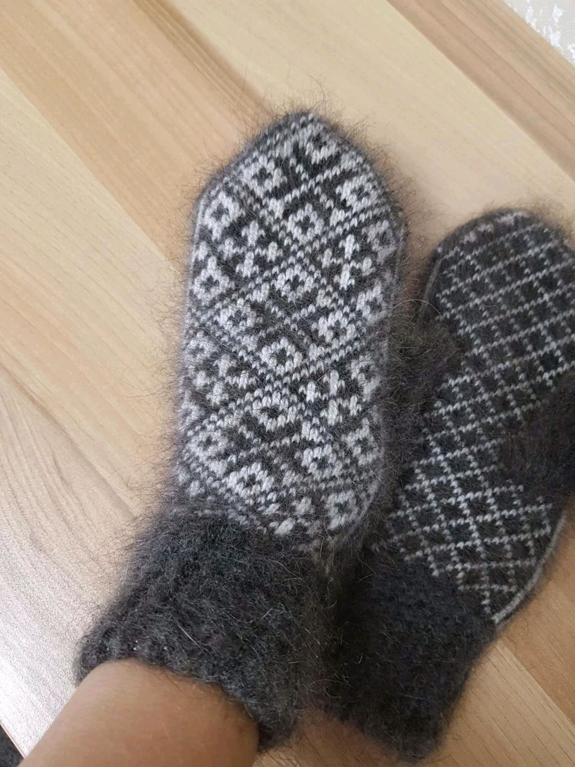 COZY WARMTH downy mittens made of goat down, Mittens, Volgograd,  Фото №1