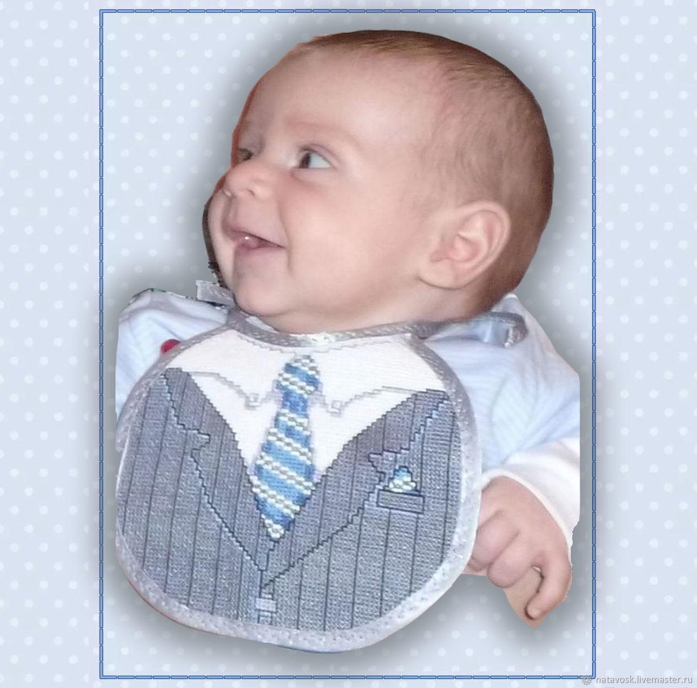 Cross stitch Bib for baby, Bibs, Rostov-on-Don, Фото №1