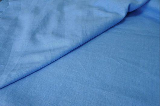 Шитье ручной работы. Ярмарка Мастеров - ручная работа. Купить Итальянский лен ярко-голубого цвета. Handmade. Итальянские ткани