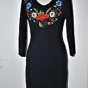 Одежда ручной работы. Ярмарка Мастеров - ручная работа вышитое платье гладью. Handmade.