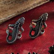 Украшения handmade. Livemaster - original item Ring Lizard. Lizard Ring. The Lizard ring. bronze silver.. Handmade.