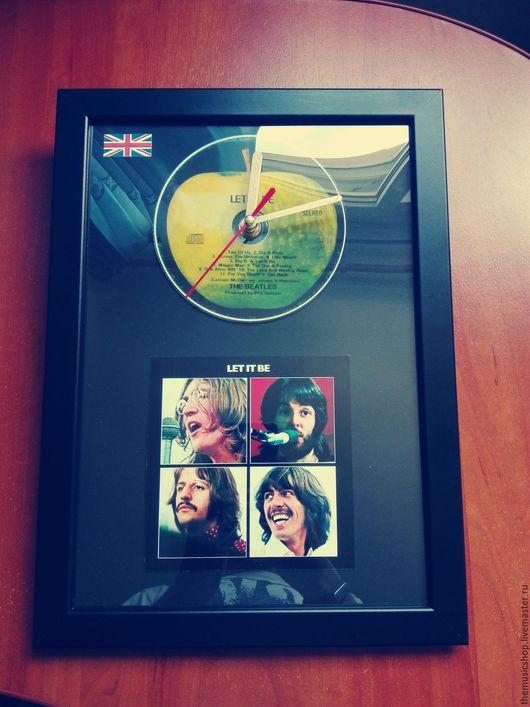 "Часы для дома ручной работы. Ярмарка Мастеров - ручная работа. Купить Настенные часы The Beatles ""Let it be"". Handmade."