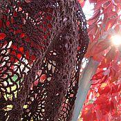 """Аксессуары ручной работы. Ярмарка Мастеров - ручная работа Шаль """"Шоколадный ананс"""". Handmade."""