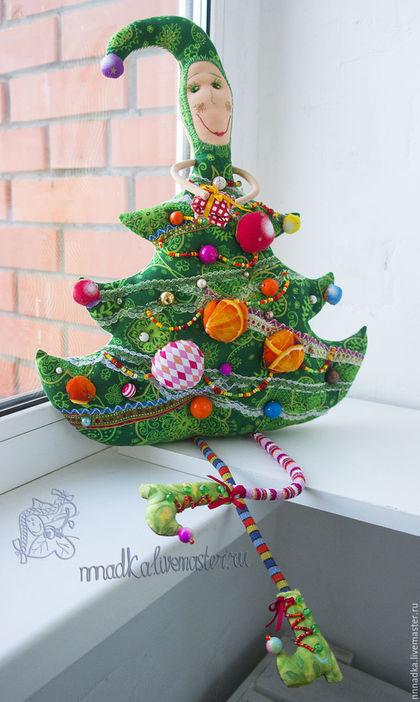 Коллекционные куклы ручной работы. Ярмарка Мастеров - ручная работа. Купить Ёлки зелёные! текстильная авторская новогодняя кукла. Handmade.