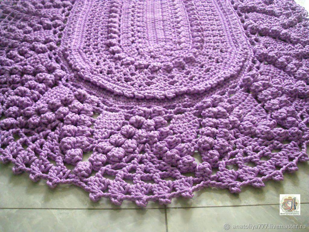 Rug crochet oval of cord, a Bunch of grapes, Carpets, Kabardinka,  Фото №1