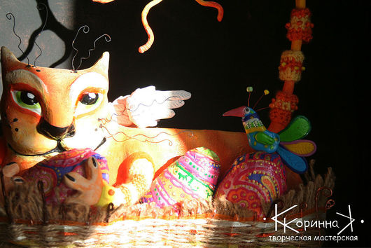 """Авторская  кукла паперклей   """" Рыжим мартовским котом  весна приходит в каждый дом """" автор Коринна Кузнецова - Кучербаева"""