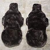 Сувениры и подарки handmade. Livemaster - original item Copy of Copy of Two cover for car seats made of fur. Handmade.