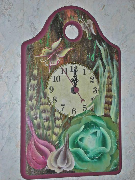 Часы для дома ручной работы. Ярмарка Мастеров - ручная работа. Купить Часы кухонные.. Handmade. Дерево