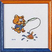 """Картины и панно ручной работы. Ярмарка Мастеров - ручная работа """"Рыбачок"""". Handmade."""