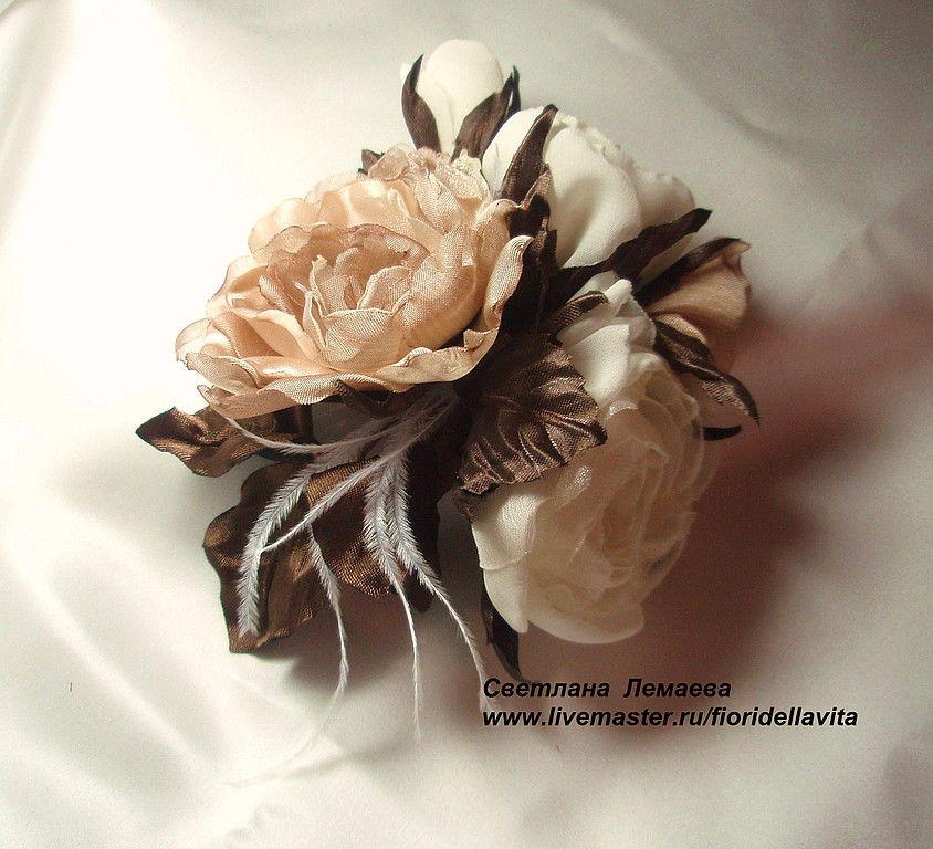 Ярмарка мастеров цветы из ткани мастер класс + видео #6