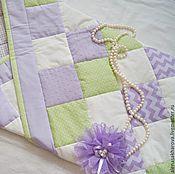 """Работы для детей, ручной работы. Ярмарка Мастеров - ручная работа Лоскутное одеяло """"Сирень"""" конверт для новорожденного. Handmade."""