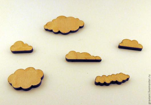 Открытки и скрапбукинг ручной работы. Ярмарка Мастеров - ручная работа. Купить Декоративные облака. Handmade. Бежевый, облака, облако, облачко