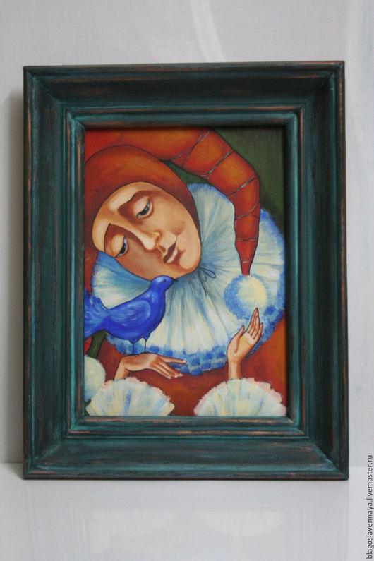 """Люди, ручной работы. Ярмарка Мастеров - ручная работа. Купить Картина """"Синяя птица"""". Handmade. Комбинированный, картина для интерьера"""