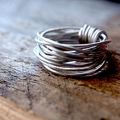 Украшения ручной работы. Ярмарка Мастеров - ручная работа Плетеное кольцо из серебра 925. Handmade.
