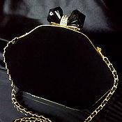 Сумки и аксессуары ручной работы. Ярмарка Мастеров - ручная работа Клатч замшевый чёрный Black diamonds. Handmade.