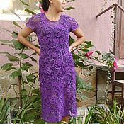 """Одежда ручной работы. Ярмарка Мастеров - ручная работа Платье ирландским кружевом """"Purple"""". Handmade."""