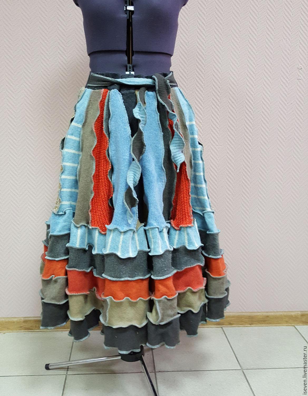 Купить юбку лоскутную
