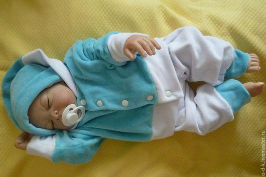 Купить комплект для новорожденного `Бирюзовый шик`. Велюр. Качество. Одежки для Крошки. Комплект на выписку.