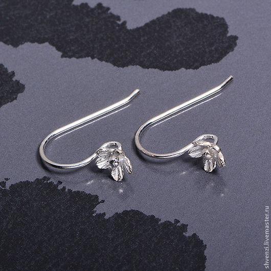 Швензы `Незабудка` серебряные, размер 20х15 мм. Производство Китай. Отличное качество! Цена за пару.