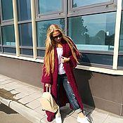 """Одежда ручной работы. Ярмарка Мастеров - ручная работа Пальто вязаное, оверсайз, мохер. В модном тренде """"пальто-халат"""".. Handmade."""