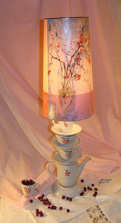 """Освещение ручной работы. Ярмарка Мастеров - ручная работа. Купить Лампа """"Все оттенки нежности..."""". Handmade. Необычный подарок"""