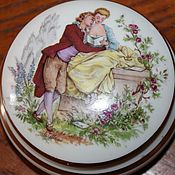 Винтаж handmade. Livemaster - original item Two porcelain boxes (compact boxes), Limoges, France. Handmade.