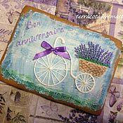 Сувениры и подарки ручной работы. Ярмарка Мастеров - ручная работа Велосипед с лавандой. Handmade.