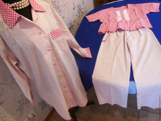 Одежда. Ярмарка Мастеров - ручная работа. Купить Костюм домашний  хлопок. Handmade. Бельевой стиль, кантри, Праздник, пижамный стиль