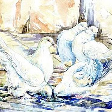 """Картины и панно ручной работы. Ярмарка Мастеров - ручная работа Акварель """"После дождя"""". Handmade."""