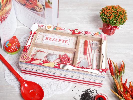 """Кухня ручной работы. Ярмарка Мастеров - ручная работа. Купить Коробочка для кухни """"Уютная кухня_2"""". Handmade. Короб для хранения, для кухни"""