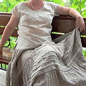 Одежда ручной работы. Ярмарка Мастеров - ручная работа Блузка льняная с вышивкой. Handmade.