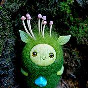 """Войлочная игрушка ручной работы. Ярмарка Мастеров - ручная работа Войлочная игрушка: Лесной волшебник:""""Защитник грибочков"""". Handmade."""