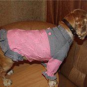 Для домашних животных, ручной работы. Ярмарка Мастеров - ручная работа Платье для собачки розовое. Handmade.