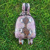 Сумки и аксессуары handmade. Livemaster - original item Backpack Python CITYSTYLE. Handmade.