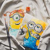 Одежда handmade. Livemaster - original item paired t-shirts Minions. Handmade.