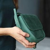 Сумки и аксессуары handmade. Livemaster - original item leather bag in green. Handmade.