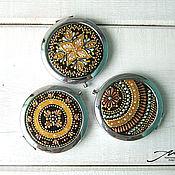 Для дома и интерьера handmade. Livemaster - original item Small folding pocket mirror dot painting. Handmade.