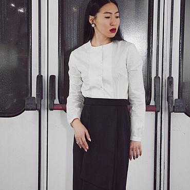 Одежда ручной работы. Ярмарка Мастеров - ручная работа Блузки: Белая блуза. Handmade.