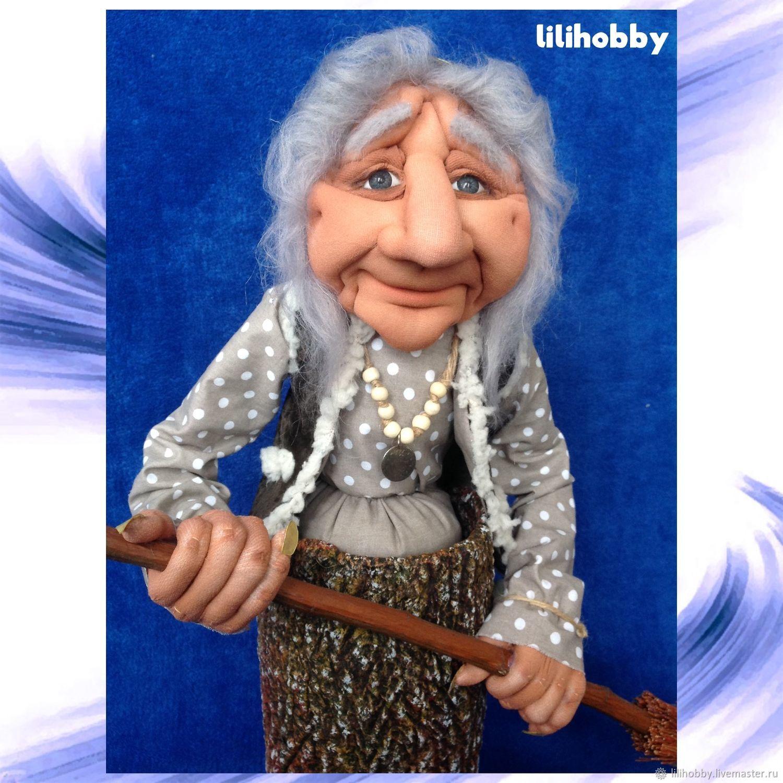 Кукла копилка Баба Яга с метлой, Копилки, Таганрог,  Фото №1