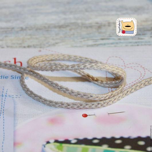 Шитье ручной работы. Ярмарка Мастеров - ручная работа. Купить Шнур льняной вязаный 4мм (ШЛ-4) неотбеленный натуральный. Handmade.