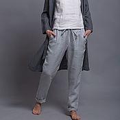 Брюки ручной работы. Ярмарка Мастеров - ручная работа Зауженные штаны из льна ALTO  - 31 расцветка. Handmade.