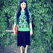 Одежда ручной работы. Ярмарка Мастеров - ручная работа Модный свитер яркой расцветки станет украшением любого гардероба!. Handmade.